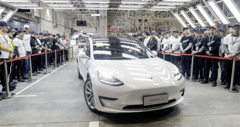 Tesla Forecasted to Sell in China 100,000 vehicles in China in 2020; Model 3 Was the Best Selling EV in China for the Past Two Months