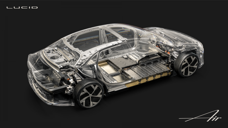 Tesla Challenger Lucid Motors Shares New Details of the Air Sedan's Design, Including its 113 kWh Battery
