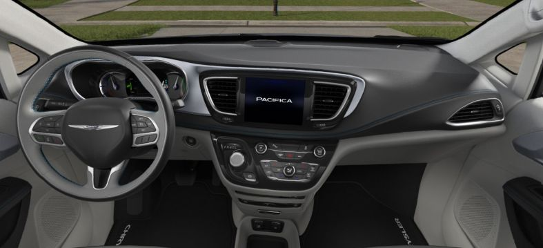 2018 Chrysler Pacifica Hybrid Limited Gray and Black Interior.jpg