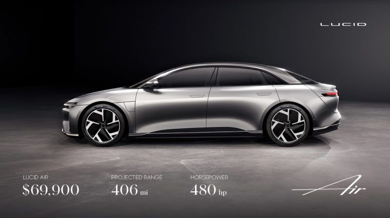 Tesla Challenger Lucid Motors Announces the More Affordable Version of its Air Sedan
