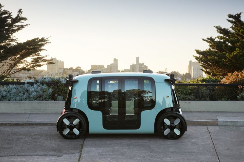 Amazon-owned Self-driving Startup Zoox Reveals its Compact 4-Passenger Robotaxi