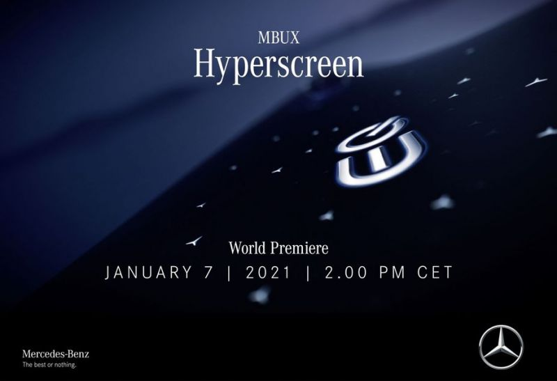 Mercedes Benz Will Reveal its New 'Hyperscreen' Ultra-Wide Dashboard Display on Jan 7
