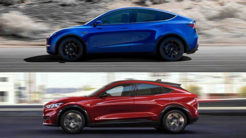 Quick EV Comparison: Ford's Mach-E vs. the Tesla Model Y