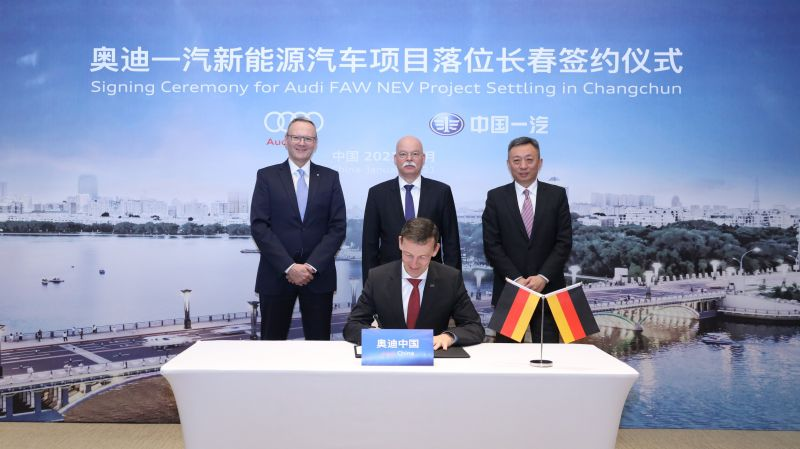 Audi to Build Electric Vehicles in China in a New Joint Venture with Automaker FAW Group