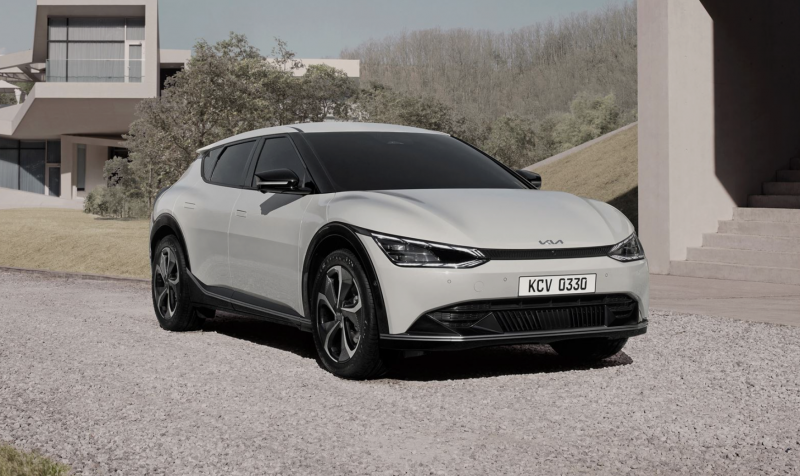 Kia Reveals the Sleek EV6 Crossover, its First Battery-Powered Vehicle