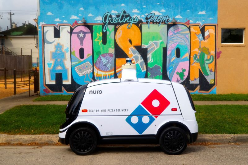 Dominos is Delivering Pizzas in Houston Using Small Autonomous Vehicles Built by Silicon Valley Startup Nuro