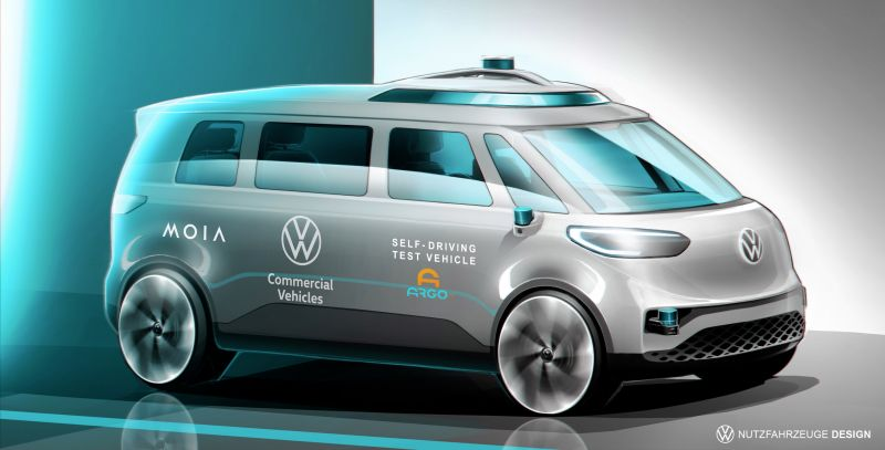 Volkswagen & Argo AI to Test the ID. BUZZ Electric Van in Germany This Summer for an Autonomous Ride-Hailing Service