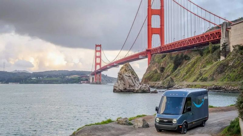 Amazon Testing Rivian Electric Delivery Vans in San Francisco