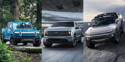 Quick Comparison: The 2022 Ford F-150 Lightning, GMC Hummer EV and Rivian R1T