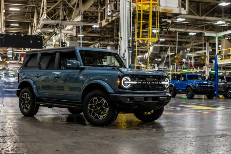 Ford Motor Co Officially Starts Production of the Rugged New Bronco SUV
