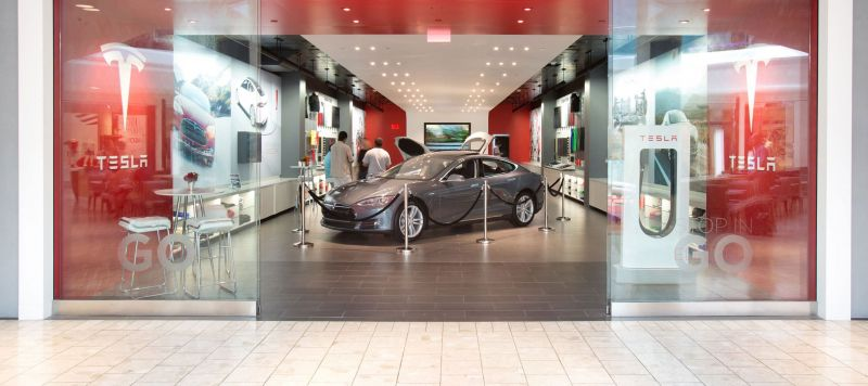 Tesla is Moving its Retail Showrooms Out of Upscale Shopping Centers, According to Sources