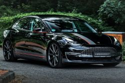 German Vehicle Tuner Manhart Performance Reveals the 543 HP Tesla Model 3, its First EV Project