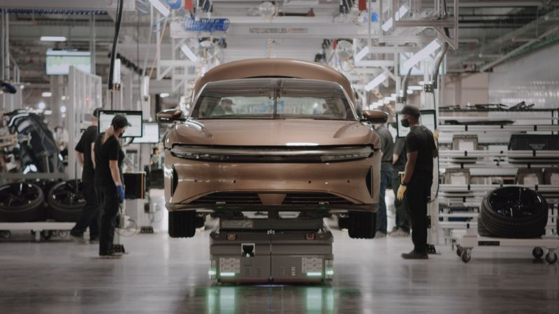 Lucid Group Officially Starts Production of the Fully-Electric Lucid Air Sedan in Arizona, Customer Deliveries Will Begin Next Month