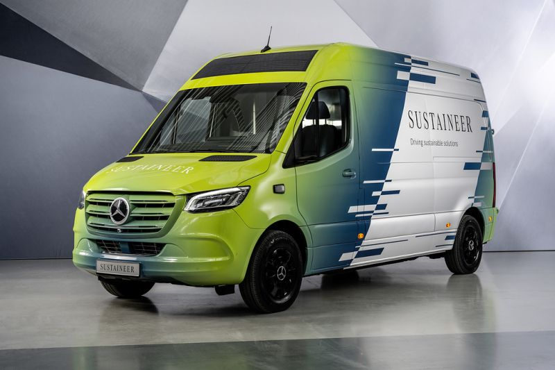 The Mercedes-Benz Unveils the 'SUSTAINEER' Electric Concept Van, Designed for Sustainable Urban Mobility